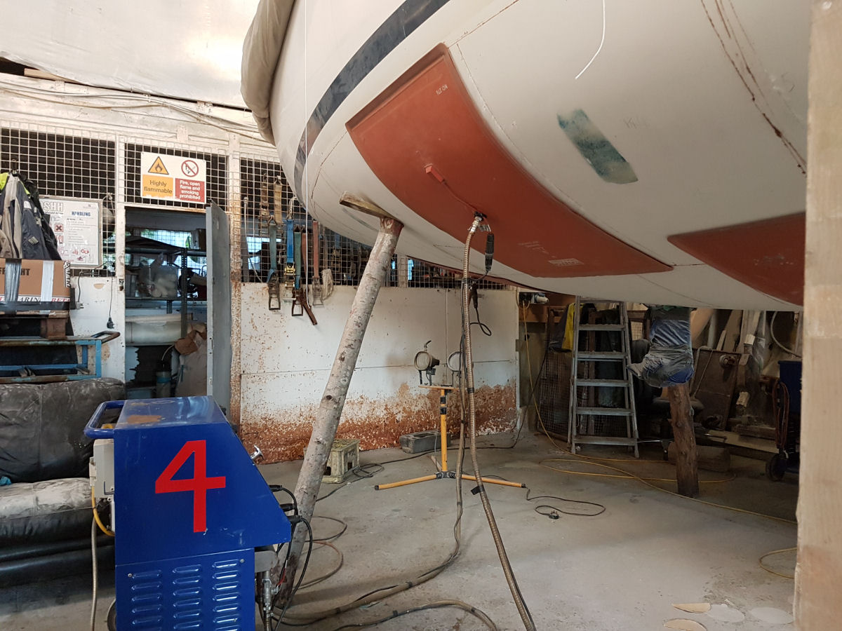 Hot Vac Hull Cure system Hayling Yacht Company